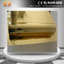 gold metallized thermal PET film for binding wire