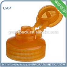 Orange Farbe Flasche Schraubverschluss Klappe oben Kappe Kleber Schraubverschluss