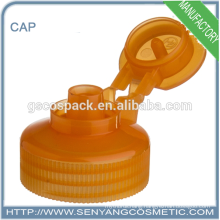 orange color bottle screw cap flip top cap adhesive screw caps