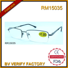 RM15035 Venta por mayor alta calidad media marco Gafas De Lectura