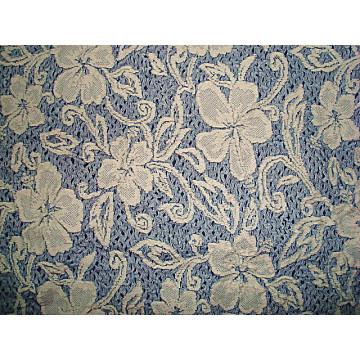 Tissu en jersey de fleurs à motifs jacquard CT