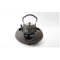 Bule de ferro fundido chinês com aquecedor