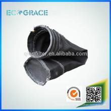 Bolsa de filtro de fibra de vidrio industria de cemento de alta temperatura