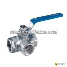 Female Tee Ball Valve,Stainless steel 3 way ball valve,tee ball valve