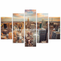 5 Панель Нью-Йорк Холст Печать / Эмпайр Стейт Билдинг Стены для украшения / Современный городской пейзаж Холст