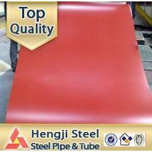 China fábrica PPGI bobina de acero material para techos