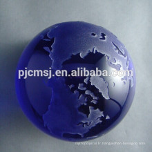 modèle de globe de cristal, boule de cristal, monde de cristal de bule