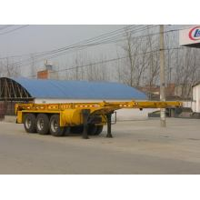 9.6m Thr-eixo 35Tons 20ft recipiente transporte semireboque
