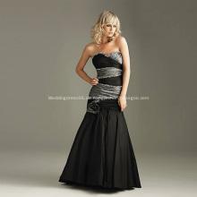Mode schwarz Hochzeitskleid