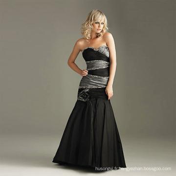 Robe de mariée noire à la mode
