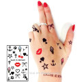 Small Decoration for Hand Sticker Tattoo,Finger temporary tattoo with lovely design