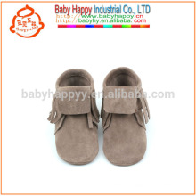 New spring design fashion shoes soft leather sole moccasins baby
