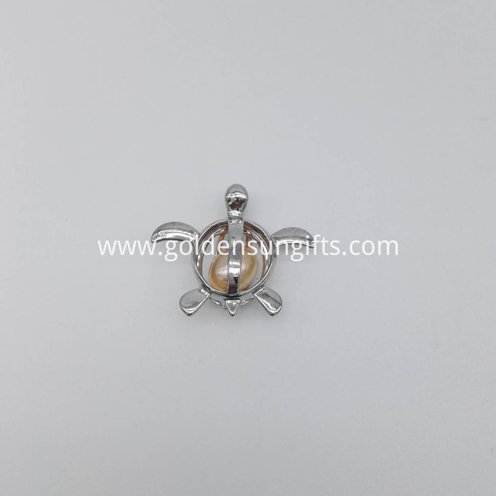 Pearl Turtle Cage Pendant