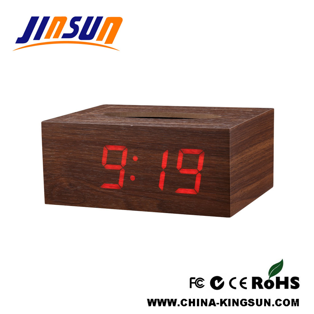 Tissue Box With Led Clock 2