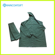 Impermeable 2PCS Rainsuit lluvia chaqueta y pantalones