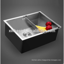 Handmade16G/18G Zero Radius Stainless Steel SUS 304 Single Bowl Kitchen Sink