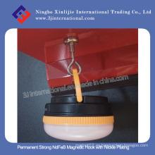 Gancho magnético fuerte permanente de NdFeB con la galjanoplastia del níquel
