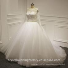 Voir à travers Alibaba Robe de bal à manches longues à manches longues Robes de mariée en dentelle Robe de mariée vestidos de novia Avec O Neck 2016 LWB01
