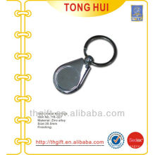 Blank coin holder keychains metal