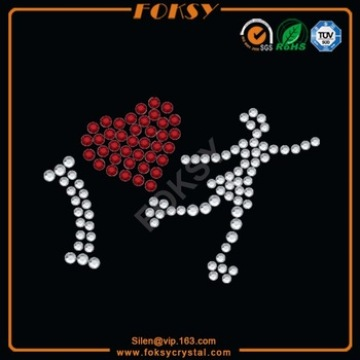 I Love you rhinestone Heart transfer wholesale