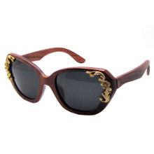 Óculos de sol de madeira da forma (sz5820-1)