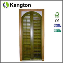 Puerta de persiana del gabinete de cocina sólida (puerta de persiana del gabinete)