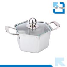 Utensilios de cocina Pote hexagonal Mini pote caliente de acero inoxidable