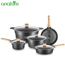 Die Cast Aluminum Pfluon Marble Coating Cookware Reviews
