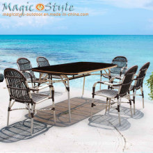 New Design Wicker Dining Set/Patio Dining Set/Rattan Furniture/Wicker Chair/Dining Table/Outdoor Dining Set