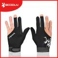 Glatt Lycra 3 Finger Billard Handschuh für Snooker