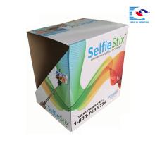 caixa de papel quente do corrugatedpdq do suporte de exposição do papel da venda para a vara do selfie