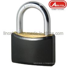 Покрынный латунной накладкой ABS покрынный. Навесной замок / латунный цилиндр. (601)