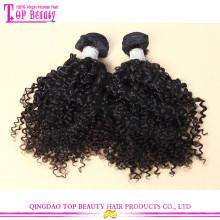 Циндао продукты волос естественный цвет афро странный индийские человеческих волос расширение