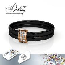 Destino joyas cristales Swarovski Simple anillo de