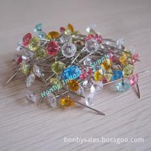 Wholesale Colorful Plastic Diamond Sewing Pin