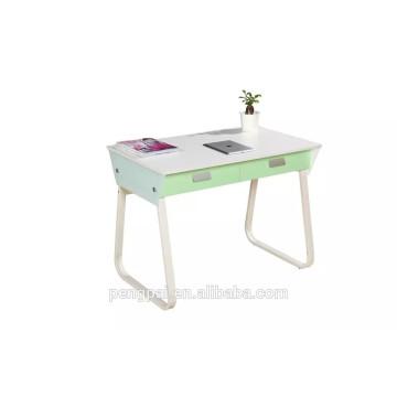 Green melamine face board study desk for children