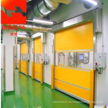 Puerta de PVC industrial rápida