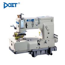 DT1412P Industrial 12 agujas de cama plana de doble puntada de aguja multi-aguja de costura máquina de coser precio