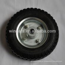 2.50-4 pneu de carrinho de mão de roda de borracha maciça