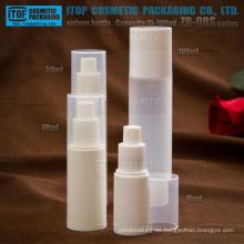 Serie de ZB-QBS 15ml 30ml 40ml 50ml 80ml 100ml redondo botella privada de aire plástico PP con rociador de la bomba