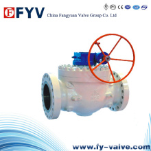 API 6D Worm Gear Top Entry Ball Valves