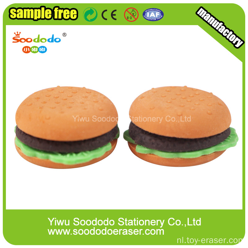 Hamburger ECO-TPR Groothandel Eraser Sets