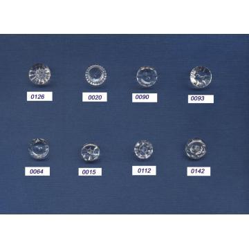Nueva moda de diseño redondo botones de cristal por mayor