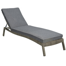 Сад плетеная ротанг открытый патио мебель бассейн Sunlounger