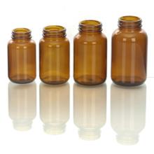 Breiten Mund Amber Flasche