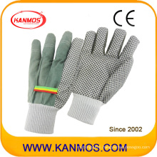 White Knitted PVC Dots Industrial Safety Work Cotton Gloves (41007)