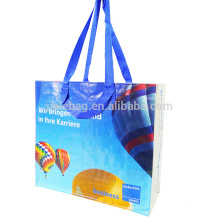 blue premium recycled bag for shopping supermarket