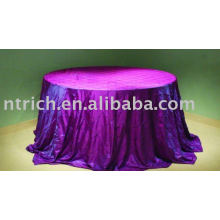 Chameleon pintuck tablecloth, banquet/hotel tablecloth