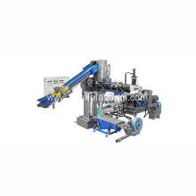 pp pe film recycling pelletizing extruder