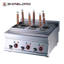 K018 Fabricación de acero inoxidable con tapa superior Pasta Cocina eléctrica ahorro de energía Pasta Máquina de cocción